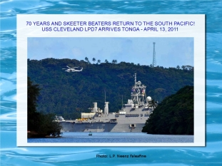 Pacific Partnership 2011 Arrives Tonga April 13th
